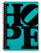 Hope In Light Blue Spiral Notebook