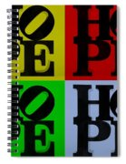 Hope In Quad Colors Spiral Notebook