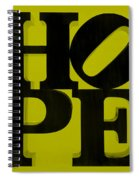 Hope In Yellow Spiral Notebook