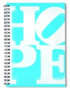 Hope Inverted Aquamarine Spiral Notebook