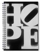 Hope Inverted Black Spiral Notebook