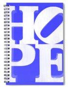 Hope Inverted Blue Spiral Notebook