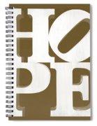 Hope Inverted Brown Spiral Notebook