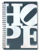 Hope Inverted Denim Spiral Notebook