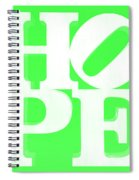 Hope Inverted Green Spiral Notebook