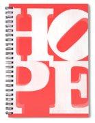 Hope Inverted Red Spiral Notebook