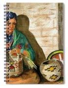 Hopi Basket Weaver Spiral Notebook