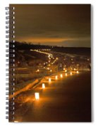 Horicon Marsh Candlelight Snow Shoe/hike Spiral Notebook