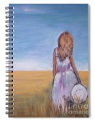 Girl In Wheat Field Spiral Notebook