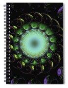 Horn Of Green Spiral Notebook