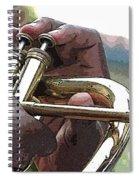 Horn Player 0072 Spiral Notebook