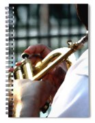 Horn Player Pk 0071 Spiral Notebook