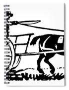 Horse & Cart, 19th Century Spiral Notebook
