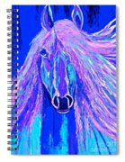Horse Abstract Blue And Purple Spiral Notebook