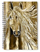 Horse Abstract Neutral Spiral Notebook