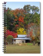 Horse And Barn In The Fall 3 Spiral Notebook