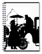 Horse And Carriage Silhouette Spiral Notebook