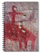 Horse And Rider Cave Painting Spiral Notebook