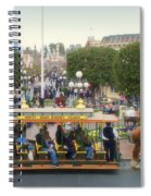 Horse And Trolley Main Street Disneyland 02 Spiral Notebook