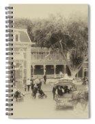 Horse And Trolley Turning Main Street Disneyland Heirloom Spiral Notebook