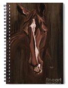 Horse Apple Warm Brown Spiral Notebook