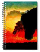 Horse At Sunrise Spiral Notebook