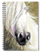 Horse Blowing In The Wind Spiral Notebook