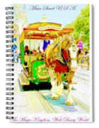 Horse Drawn Trolley Car Main Street Usa Spiral Notebook