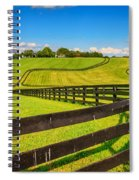 Horse Farm Fences Spiral Notebook