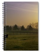 Horse Farm Sunrise Spiral Notebook
