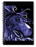 Horse Head Blues Spiral Notebook