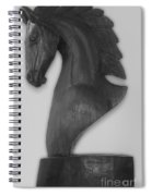 Horse Head Sculpture Black And White Spiral Notebook