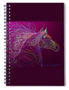 Horse Of Fire Spiral Notebook