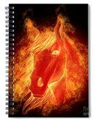 Horse On Fire  Spiral Notebook
