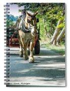 Horse Powered Mackinac Island Spiral Notebook