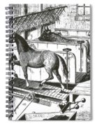 Horse Powered Stall Cleaner, 1880 Spiral Notebook