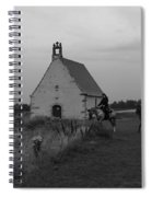 Horse Riders By The Church Spiral Notebook
