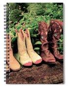 Horse Riding Boots Spiral Notebook