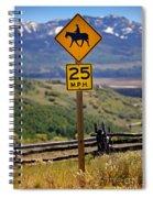 Horseback Riding Sign Spiral Notebook