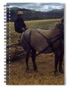 Horsedrawn Harvester Hay Rake On The Berta Ranch Carmel Valley California Circa 1950 Spiral Notebook