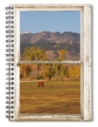 Horses And Autumn Colorado Front Range Picture Window View Spiral Notebook