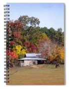 Horses And Barn In The Fall 2 Spiral Notebook