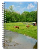 Horses At Home On The Range Spiral Notebook