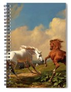 Horses Balking At Approaching Storm Spiral Notebook