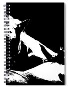 Horses - Black And White Spiral Notebook