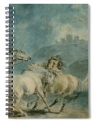 Horses Fighting Spiral Notebook