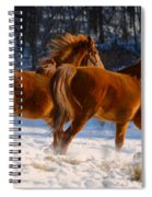 Horses In Motion Spiral Notebook