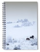 Horses In The Snow Spiral Notebook
