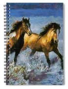 Horses In Water Spiral Notebook