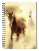 Horses Of The Mist Spiral Notebook